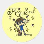 Brunette Rock Star Stickers