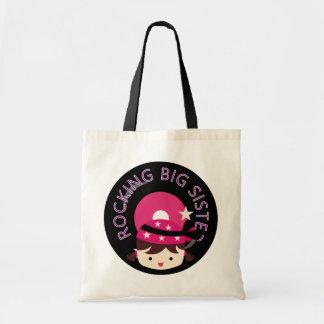 Brunette Rocking Big Sister Canvas Bag