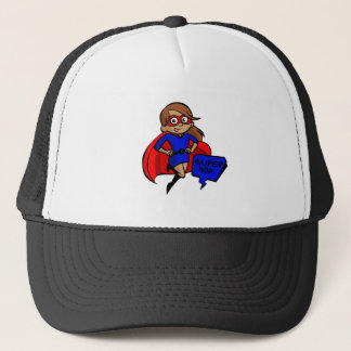 brunette super mom trucker hat