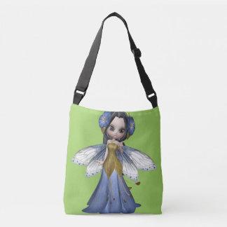 Brunette Woman Fairy Princess Medium Bag Tote Bag