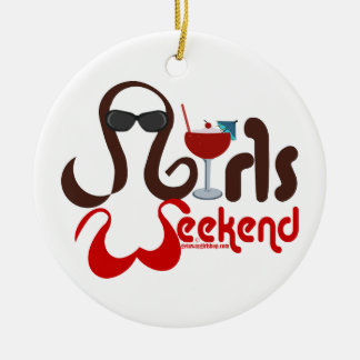Brunettes in Bikinis - Girls Weekend Fun! Ceramic Ornament