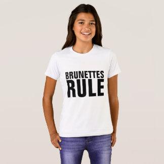 BRUNETTES RULE girls kids T-shirts