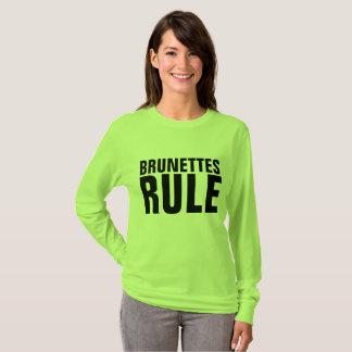 BRUNETTES RULE ladies T-shirts
