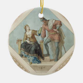 Brunhilde and Hagen, illustration for 'The Niebelu Christmas Tree Ornaments