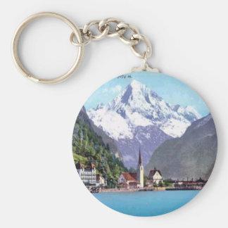Brunnen, Lake Lucerne Basic Round Button Key Ring