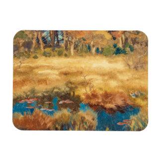 Bruno Liljefors - Autumn Landscape with Fox Rectangular Photo Magnet