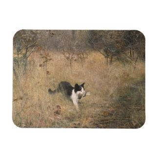 Bruno Liljefors - Cat Bird Hunting Rectangular Photo Magnet