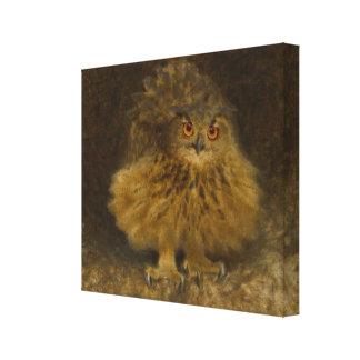 Bruno Liljefors Eagle owl CC0482 Wildlife Canvas Print