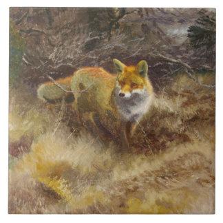 Bruno Liljefors - Fox and Landscape Ceramic Tile