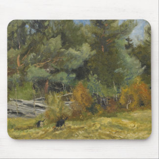 Bruno Liljefors - Scent Hounds at Fence Mouse Pad