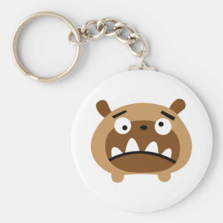 Bruno the dog basic round button key ring