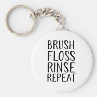 Brush, Floss, Rince, Repeat Key Ring
