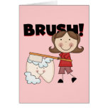 BRUSH - Girl With Tooth Tshirts and Gifts Cards