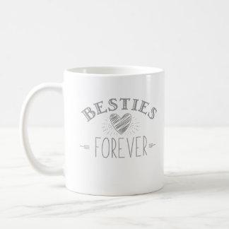 Brush love - Besties Forever- coffee day Coffee Mug