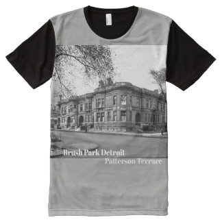 Brush Park Detroit Patterson Terrace All-Over Print T-Shirt