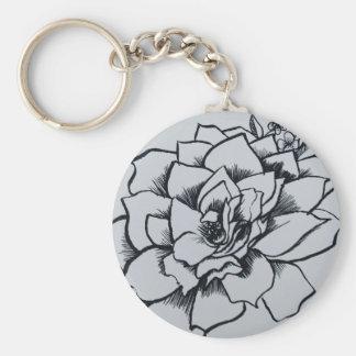 Brush Rose Key Ring