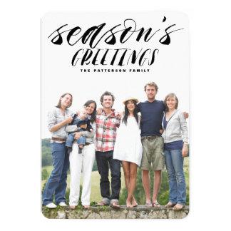 Brush Script Season's Greeting Holiday Photo Card
