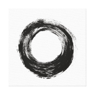 Brush stroke circle texture stretched canvas prints