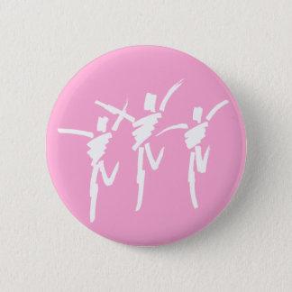 Brush Stroke Dance Trio Button in Pink
