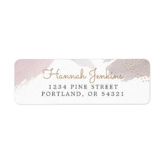 Brush Strokes Return Address Label