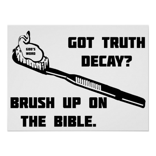 Brush up on the Bible Poster