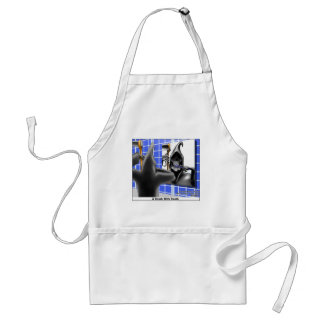 brush W/Death Funny Gifts Tees & Collectibles Standard Apron