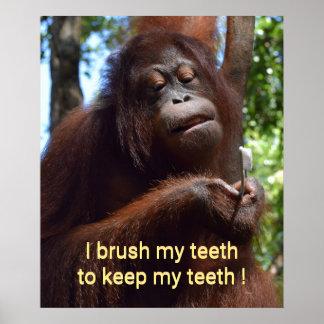Brush Your Teeth Toothbrush Poster