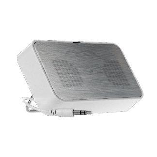 Brushed Aluminum Background Mp3 Speakers