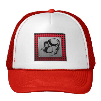 Brushed aluminum look Boxer Trucker Hat