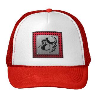 Brushed aluminum look Boxer Mesh Hat