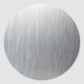 Brushed Aluminum Metal Classic Round Sticker