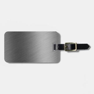 Brushed Aluminum Metal Look Bag Tag