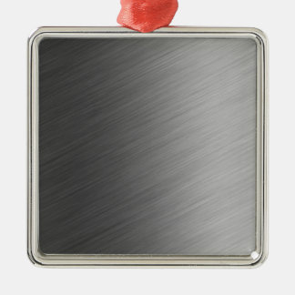 Brushed Aluminum Metal Look Silver-Colored Square Decoration
