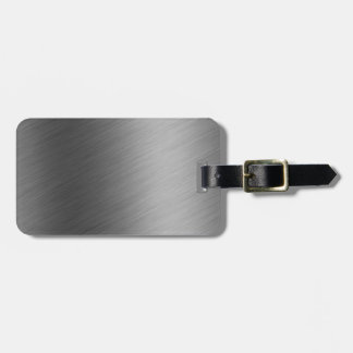 Brushed Aluminum Metal Look Tags For Bags