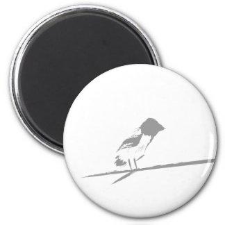 Brushed Bird 6 Cm Round Magnet