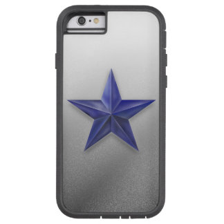 Brushed blue star on white speckled texture tough xtreme iPhone 6 case