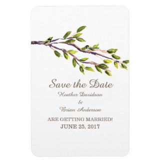 Brushed Branches Save the Date Flexi Magnet