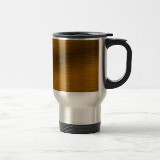 Brushed Bronze Background Travel Mug