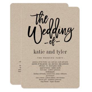 Brushed Charm Wedding Ceremony Program