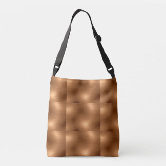 Brushed Copper Look Crossbody Bag