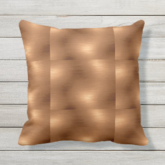 Brushed Copper Look Throw Pillow