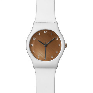 Brushed Copper Look Wristwatch