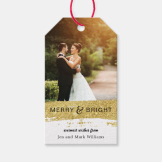 Brushed Faux Gold Glitter Gift Tags