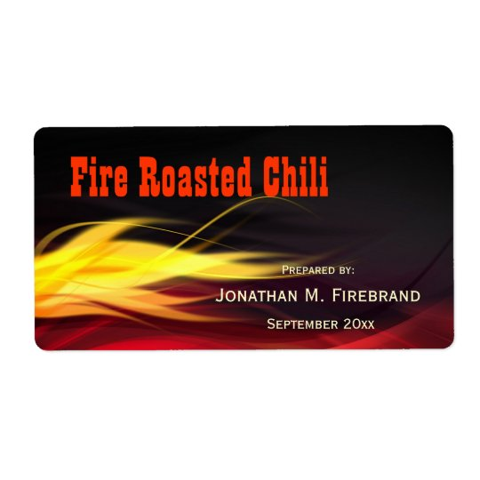 Brushed Flames Chilli or Shop Label Shipping Label