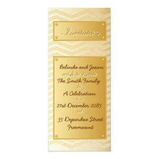 Brushed Gold Chevron Celebration Invitation