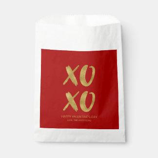Brushed Gold Foil XOXO Valentine Favor Bag