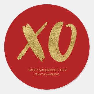 Brushed Gold Foil XOXO Valentine Sticker