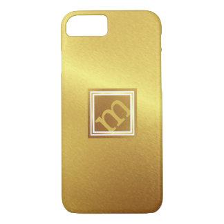 Brushed Gold, Framed Angled Monogram iPhone 8/7 Case