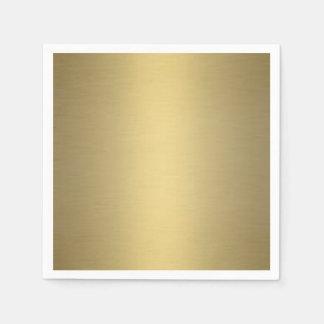Brushed Gold Paper Napkin