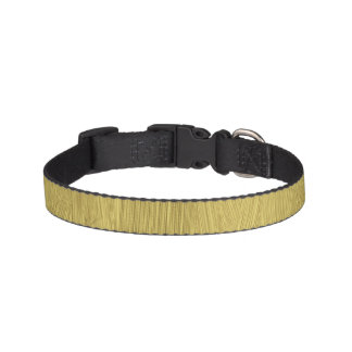 Brushed Gold Pet Collar
